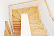 阿波 桧 無垢フローリング 階段材 施工画像 床材品番:AH (段板部材 集成材(積層)段鼻、蹴込、側板部材は既製品 框材 オイル塗装)