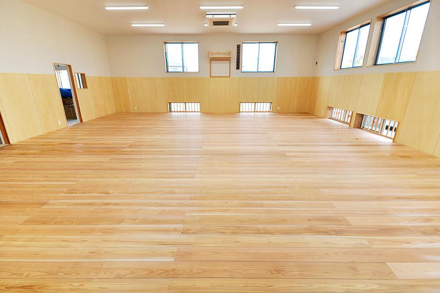 剣道場専用床材施工例 群馬県 弘武館松澤道場