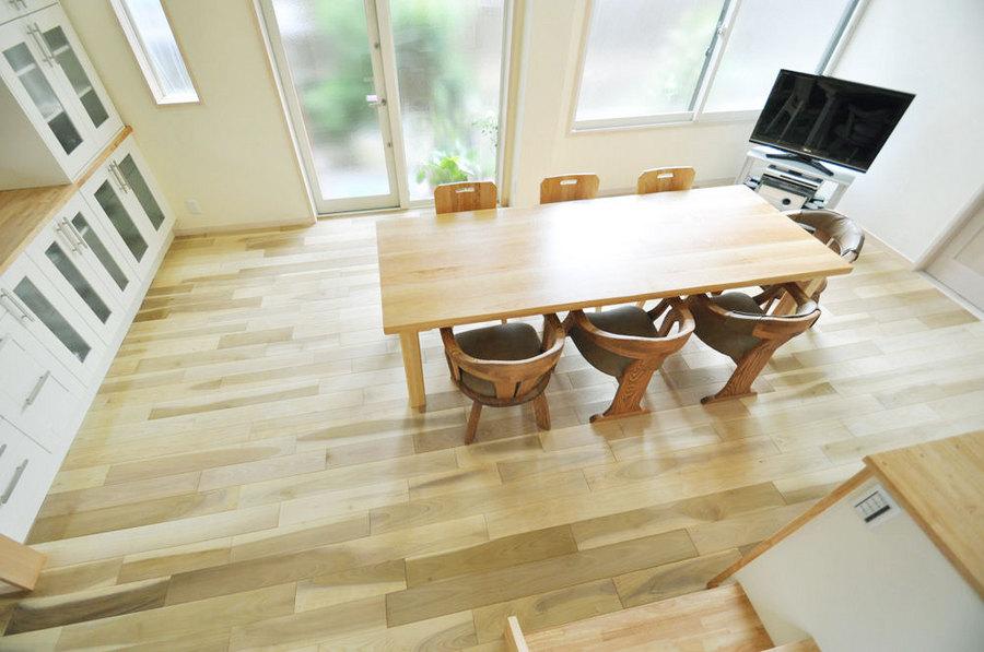 国産広葉樹 朴の木無垢フローリング [品番:HH-09] サイズ 乱尺x120mmx15mm オスモオイル塗装 床暖房