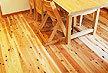 東京都台東区 国産針葉樹木材の床板 伊予 杉フローリング施工画像 上小節 埋木有り オスモ オイルワックス塗装仕上げ 1920mmx95mm巾x15mm厚 18枚入り 羽目板 框材有り