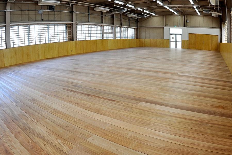 剣道場専用床材施工例 関東学院大学 E7号館・剣道場