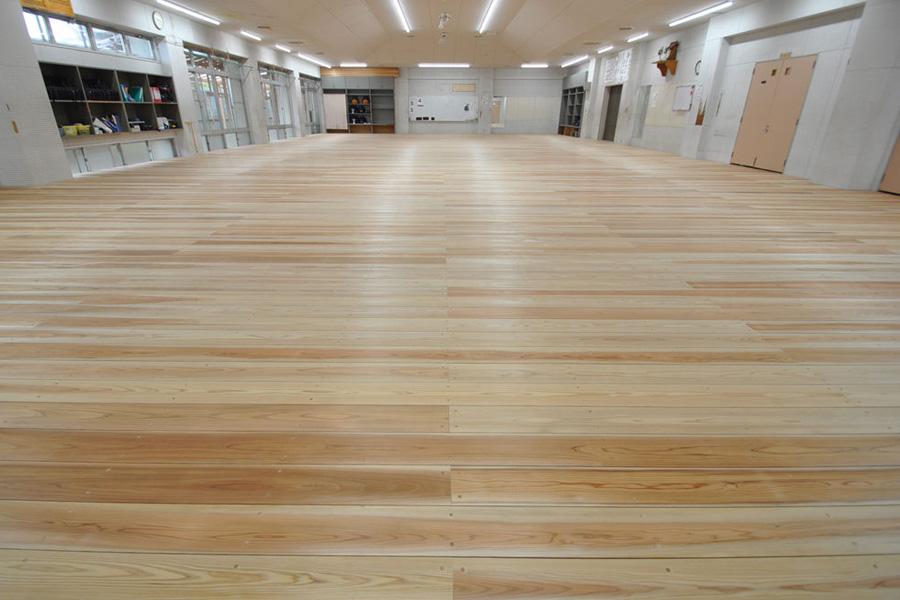 剣道場専用床材施工例 宮崎県宮崎市 中学高等学校