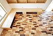 広葉樹木材 モザイク 無垢 フローリング 施工画像 品番:MZ-01 1820mmx130mm巾x15mm厚 7枚入り