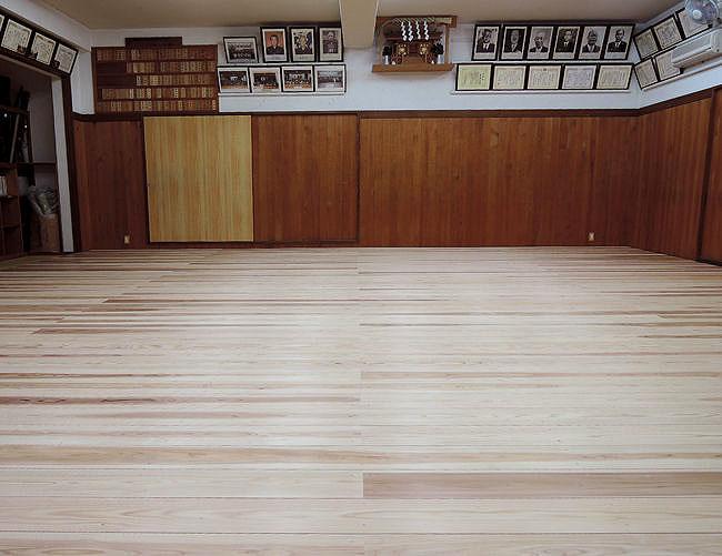 剣道場専用床材施工例 東京都 練馬剣友会剣道場