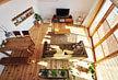 神奈川県 無垢 テーダ ボルドーパイン  フローリング施工画像 針葉樹木材 品番:TD-01 オスモ オイルワックス塗装仕上げ 節有 ウォールナット着色 幅広 框材 200mm巾x20mm厚 4枚入り