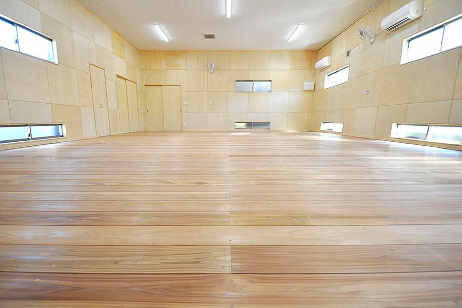 剣道場専用床材施工例,愛知県東海市,個人住宅,杉