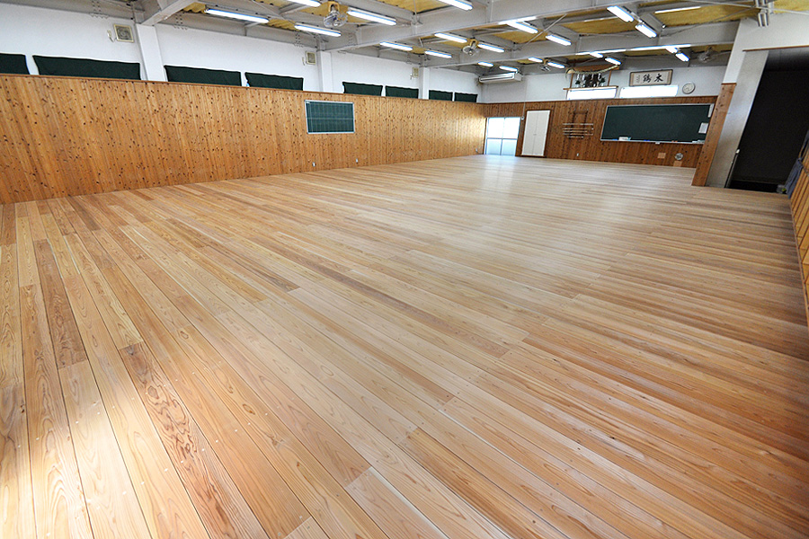 剣道場専用床材施工例 東京都都内高等学校 剣道場